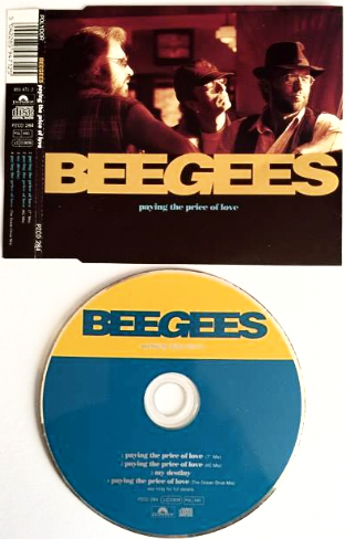 Bee Gees ‎- Paying The Price Of Love (CD Single Pt 1) (G+/VG+)
